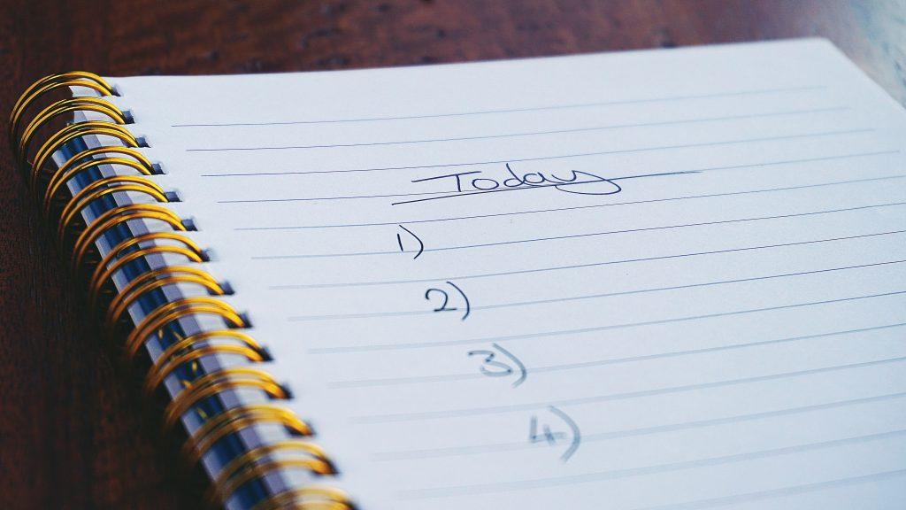 Lista de cosas para hacer hoy