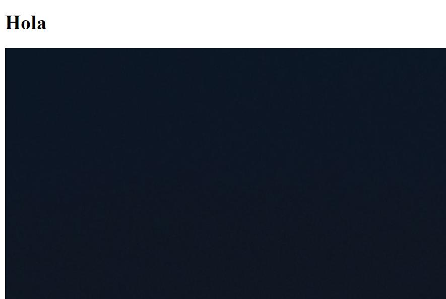 Imagen puesta con HTML pero sin ajustarle el tamaño