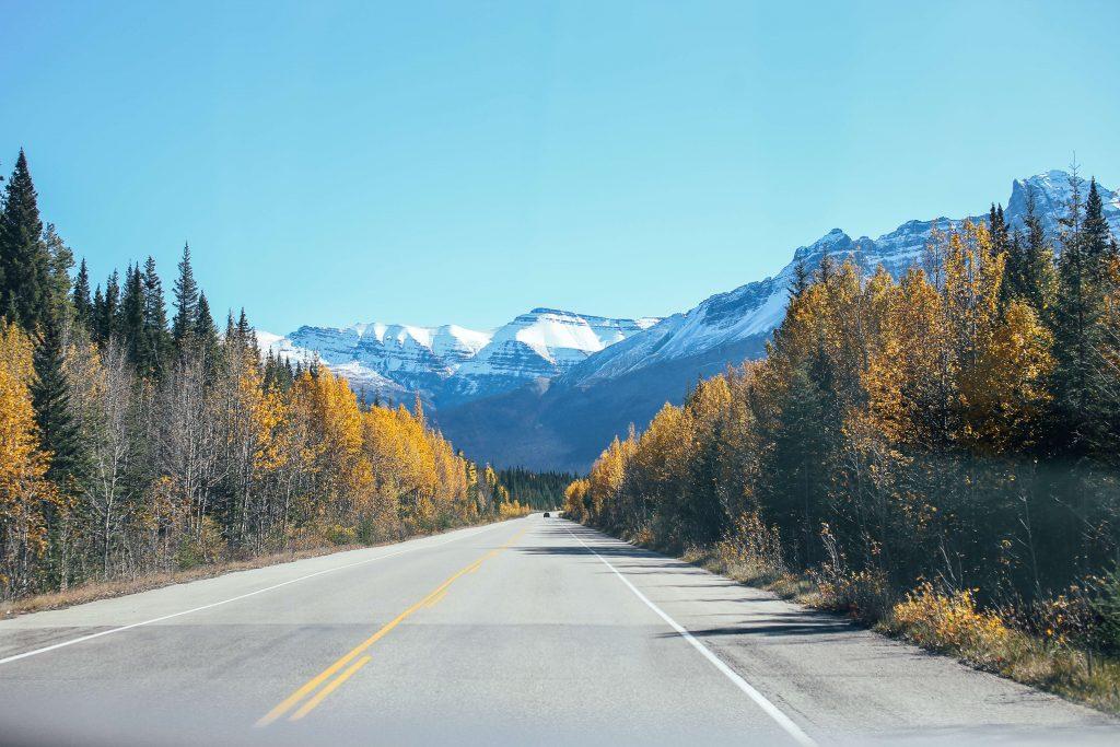 Imagen de una carretera como metáfora de las rutas de HTML