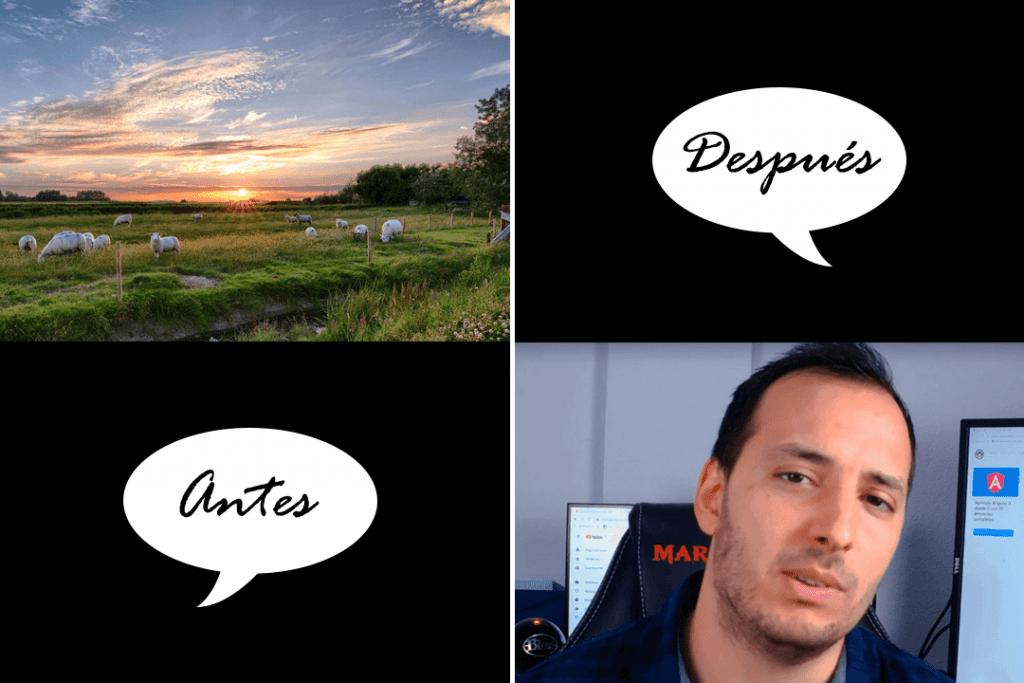 En la imagen podemos ver el antes y el después de la vida de Fernando