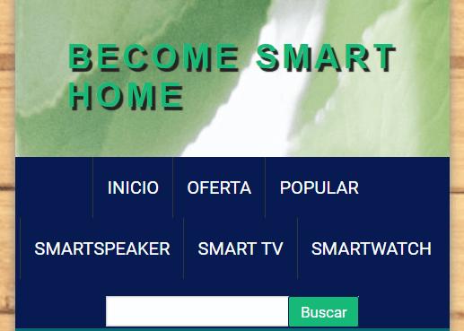 Ejemplo del home de una tienda online en versión móvil