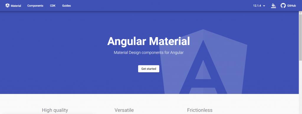 Home de Angular Material